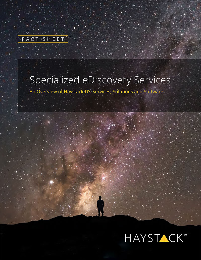Cover Image for Fact Sheet: Specialized eDiscovery Services
